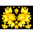 Floral golden ornament vector image