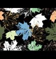 flower art vintage autumn leaves pattern monochro vector image