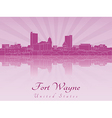Fort Wayne skyline in purple radiant orchid vector image vector image