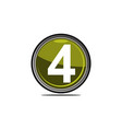 four logo design template vector image