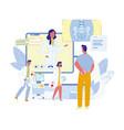 future healthcare technologies flat concept vector image