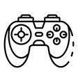 game controller icon outline style vector image vector image
