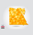 geometric polygonal style map of egypt low poly vector image