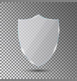 glass shield on transparent background acrylic vector image vector image