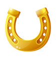 golden horseshoe flat isolated vector image