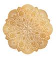 golden mandala ornament vector image vector image