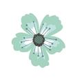 green petals of flower with pistils vector image