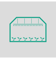 Greenhouse icon vector image vector image