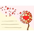 greeting card for st valentines day vector image vector image