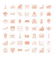 growth icons vector image vector image