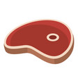 ham steak icon flat style vector image vector image