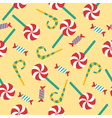 Happy Birthday Seamless Pattern with Candies vector image vector image