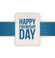 Happy Friendship Day Sale special Banner vector image vector image