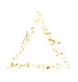 Holiday realistic gold confetti flying on black