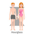 hourglass body shape types vector image vector image