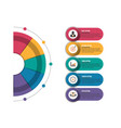 infographics design and marketing icons can be vector image vector image