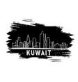 kuwait skyline silhouette hand drawn sketch vector image vector image