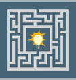light bulb inside the maze vector image