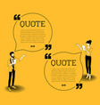 man and woman with speech bubbles vector image vector image