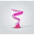 Modern empty glass vase vector image
