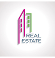 Modern Real estate icon for business design vector image