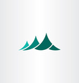 mountain symbol logo element sign vector image
