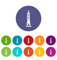 navigate tower icon simple style vector image vector image