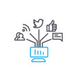 online communications linear icon concept online vector image