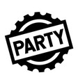party black stamp vector image