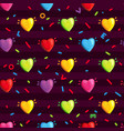 pattern with multi-colored hearts vector image vector image