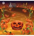 Pumpkins in the field vector image vector image