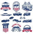racing team set of the Cars icons vector image vector image