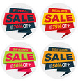 sale label price tag banner badge template vector image vector image