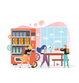 school canteen vending machine concept vector image