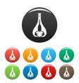 scorpion bottle icons set color vector image