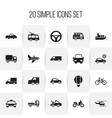 set of 20 editable transportation icons includes vector image