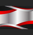 silver red and black color graphics design vector image vector image