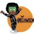 skeleton costume for child vector image