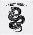 snake and piston shirt design vector image vector image