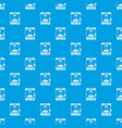 social world pattern seamless blue vector image vector image