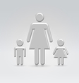 stick mom with children vector image vector image
