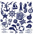 Summer sea icons vector image vector image