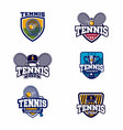 tennis emblem logotype collection vector image vector image