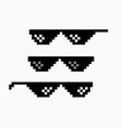 thug life meme pixel glasses icon sunglasses hip vector image vector image