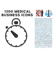 timer icon with 1300 medical business icons vector image vector image