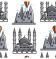 turkey lycian tombs and sultan ahmed mosque vector image vector image