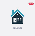 two color real estate icon from concept isolated vector image vector image
