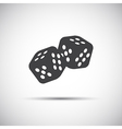 Two simple dices game icon vector image vector image
