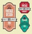 Vintage labels hip2 resize vector image vector image