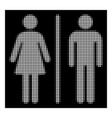 white halftone wc persons icon vector image